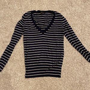 J.crew XXS navy striped sweater
